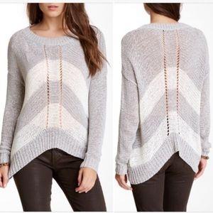Love Stitch Gray/ White Shark-bite Sweater S